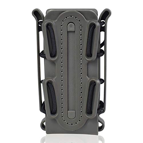 ActionUnion 9mm Universal Pistol Magazine Pouch Tactical Fastmag Soft Shell Singal Mag Carrier Hunting Airsoft Gear Fit for AK M4 Glock (Gray)