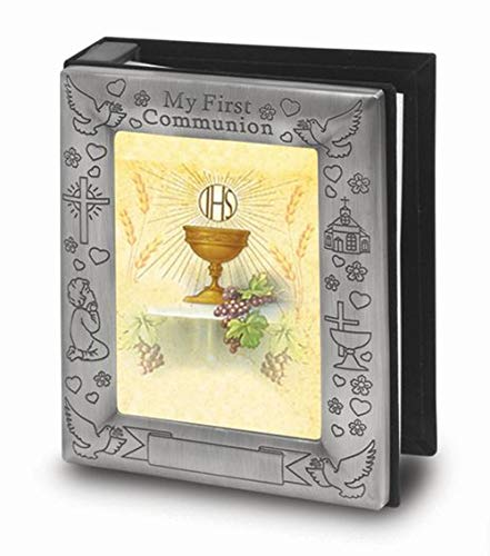 Fancy Polished Brass First Holy Communion Photo Album Gift