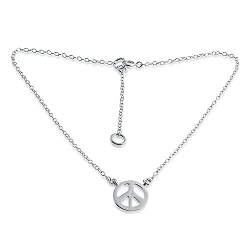 - Azaggi 925 Sterling Silver Anklet Vinage Style Peace Sign Hippie Symbol Charm Pendant Anklet Bracelet.This Handcrafted Ankle Bracelet is the perfect Jewelry Gift for Women Girls Teen