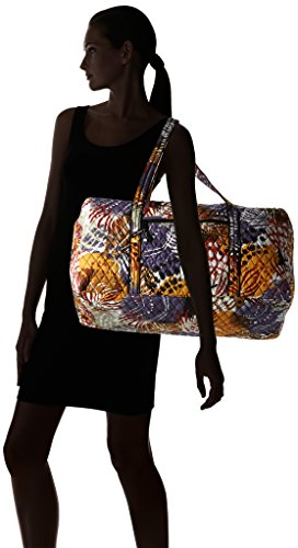 Women's Large Duffel, Signature Cotton, Painted Feathers by Vera Bradley (Image #6)