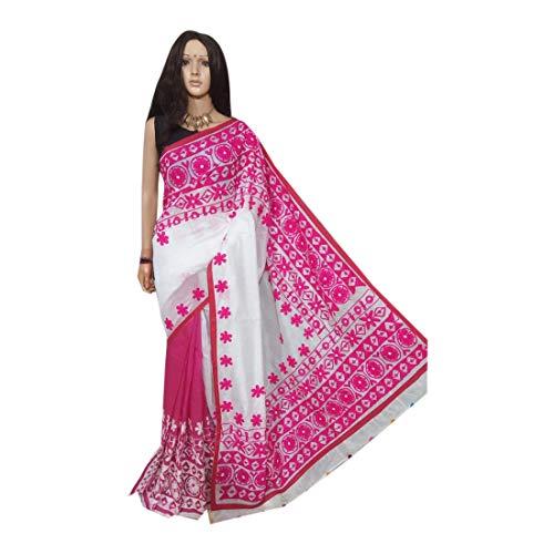 Designer Double Shaded Handwork Saree Thread Gujrati Handloom Cotton Silk Formal Women Bengal Weavers 169a