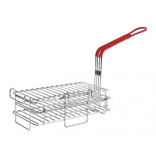 "Pronto PBPN0009 Hinged Fryer Basket For Chimichanga Burrito 6"" X 11.5"" 63186"