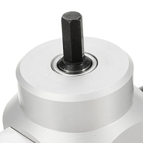 Hitommy Double Head YT-180A Wood Sheet Metal Nibbler Cutter Power Drill Attachment Holder Tool by Hitommy (Image #6)