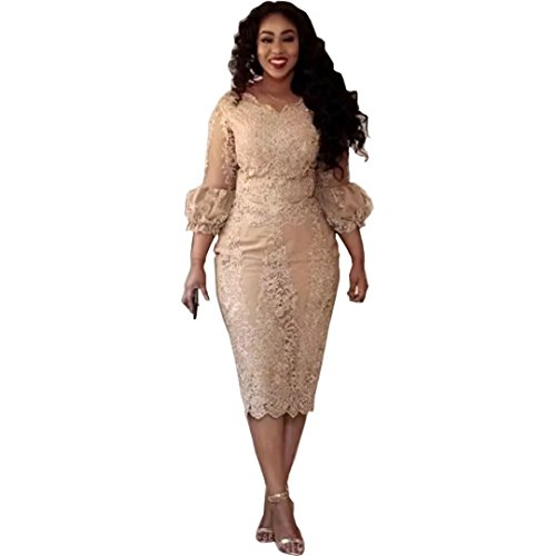 Chady Champagne Mother of the Bride Dresses 2017 Lace Applique 3/4 Sleeves Evening Gowns Plus Size Mermaid Prom Dress by Chady