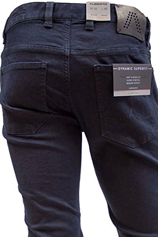 Alberto męskie dżinsy Pipe Superfit T400 długość od 30 do 36: Odzież
