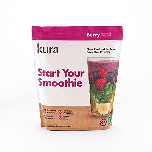 Kura Grass Fed Dairy Protein Powder, Berry, New Zealand Born, 2.03 Pound