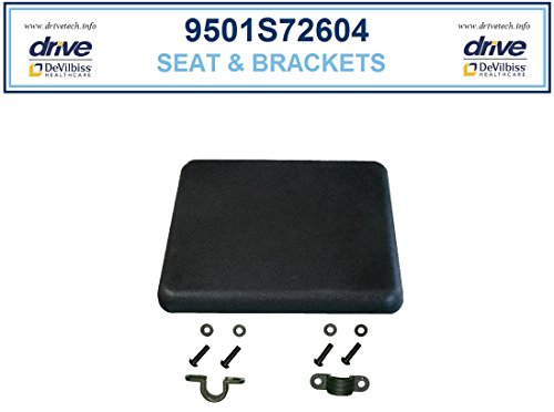 Padded Replacement Seat for Rollators, for use with 728-RTL, 726, 728, R726, and R728 -  Drive Medical, 9501S72609
