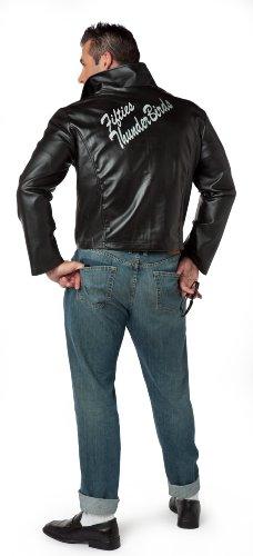 [Charades Men's Fifties Thunderbird Jacket, Black, Medium] (50s Mens Costumes)