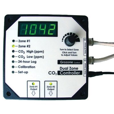 Grozone CO2D - Dual Zone CO2 Controller 0-5000 ppm