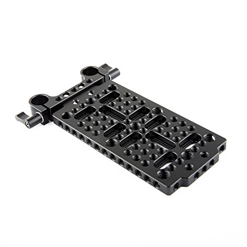 NICEYRIG Cheese Mounting Plate with 15mm Rod Clamp for Dslr Support System Batteries Converter Boxes by NICEYRIG
