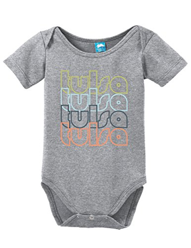 Sod Uniforms Tulsa Oklahoma Retro Printed Infant Bodysuit Baby Romper Gray 12-18 Month