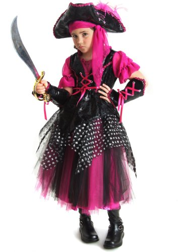 CARIBBEAN PIRATE CHILD LG 10 (Cute Indian Costumes For Girls)