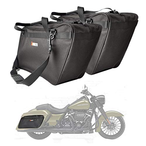 2003 Travel Bag - Street Glide Saddlebags Liner Bag, 1 Pairs of Motorcycle Hard Saddle Bags Insert Travel Luggage for Electra Glide Road King