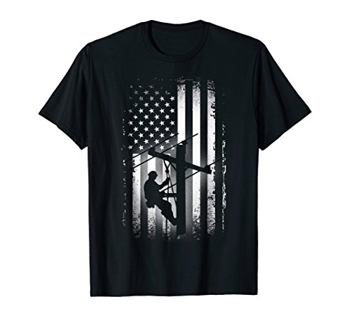 Lineman American Flag Shirt USA Patriotic Lineman - Lineman Shirts