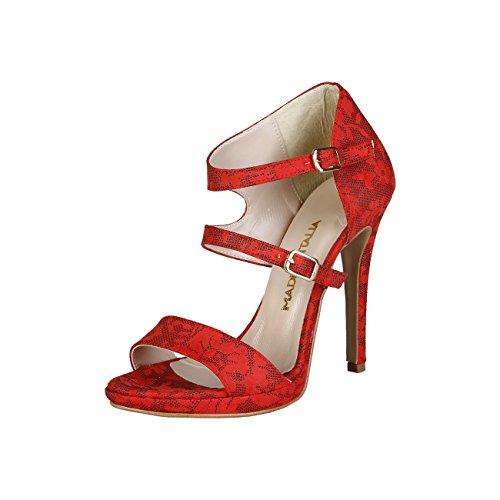 Made in Italia - IRIDE Sandalias De Vestir Para Mujer Tacón: 11.5 cm , Plataforma 1 cm