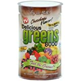 Greens World Delicious 8000 Supplement, Chocolate, 10.6 Ounce