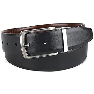 Savile Row Men's Dress Belt 35MM 1.5 inch Reversible (Size 38)