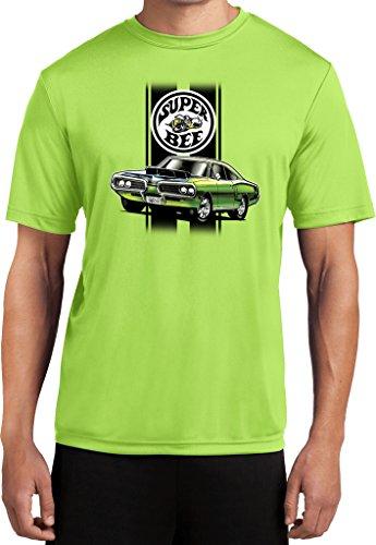 - Mens Dodge Green Super Bee Moisture Wicking T-shirt, Lime, XL