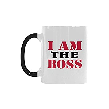humorous funny saying quotesi am the boss color changing mug cup coffee mug