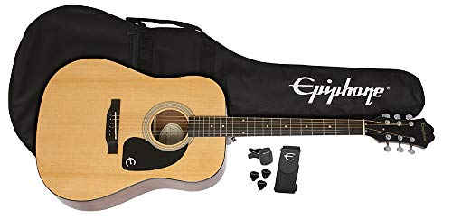 Epiphone FT-100 Acoustic Guitar Player Pack, Natural