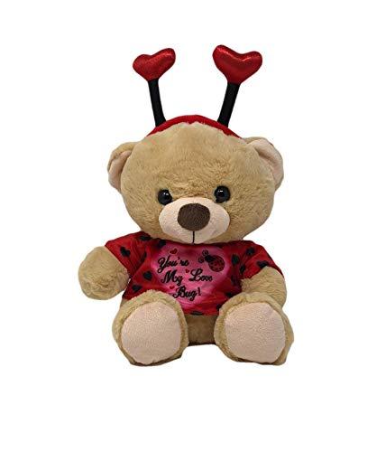 Linzy Toys 10-inch Plush Ladybug Teddy Bear Valentine Stuffed Animal Wearing You're My Love Bug Shirt for $<!--$10.99-->