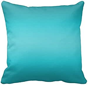 Dark And Light Aqua Blue Gradient Turquoise Pillows Square Throw Pillow Cover Cushion Case With Hidden Zipper Closure Pillowcase For Living Room Sofa 20 In Amazon Ca Tools Home Improvement