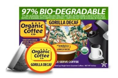 The ORGANIC COFFEE Institution GORILLA Decaf 24 ONE CUPS for Keurig K-Cup Brewers