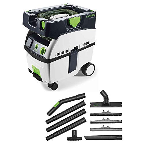 Festool 575267 CT MIDI HEPA Dust Extractor (2018 Model) w/ 203430 D 27/D 36 K-RS-Plus Compact Cleaning Set in T-LOC Systainer (2018 Model) - Mini Mobile Dust Extractor