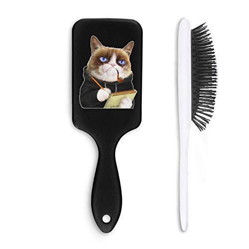 - Detangling Cushion Hairbrush Fashion Wet and Dry Hair Comb for Thick Thin All Hair Types-grumpy cat police