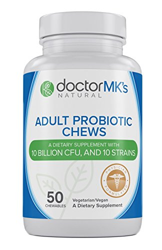 Chewable Probiotics for Teens/Adults by Doctor MK's®, Tastes Like Candy!, Natural Wild Berry Tablets, Sugar Free Formula, Vegetarian / Vegan