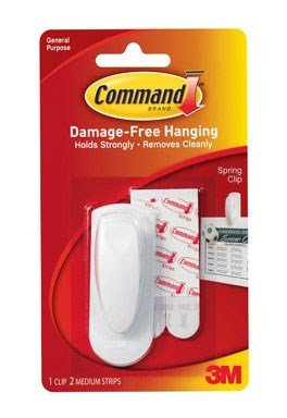 Price comparison product image Command Spring Clip 1 Clip And 2 Adhesive (6 Pack)