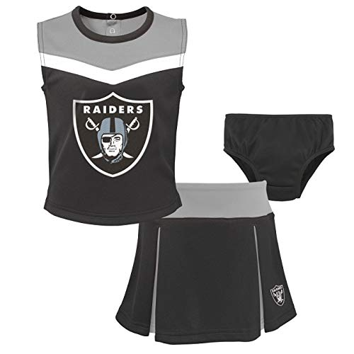 Outerstuff Oakland Raiders NFL Toddler Girls Spirit Cheer Cheerleader 2 Piece Set