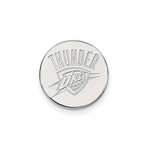 NBA Oklahoma City Thunder Lapel Pin in 14K White Gold by LogoArt