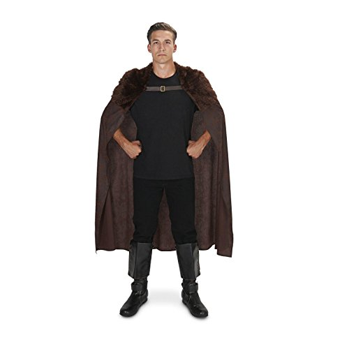 [Huntsman Brown Fur Trim Adult Cape M/L] (Huntsman Costume)