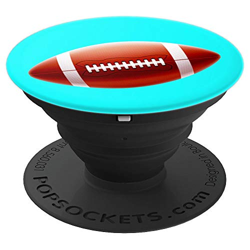 Football Ball Pop Socket Holder Cool Gift Guys Boys Men - PopSockets Grip and Stand for Phones and (Football Cell Phone Holder)