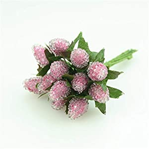 PeaceLove 12Pcs Artificial Berries for Decoration-Artificial Berries Branch Decor-DIY Fake Arrangement Flowers Christmas Decorations Outdoor-DIY Gift Box Craft Postcard Decor-Scrapbook Accessories 7