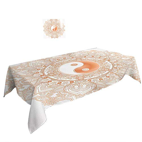 (Warm Family Rectangular Table Cloth W54 x L90 INCH,Urban A Street in Beverly Hills California Palm Trees Houses Famous City Photo ES Light Blue Peach Green. Summer & Outdoor Picnics)
