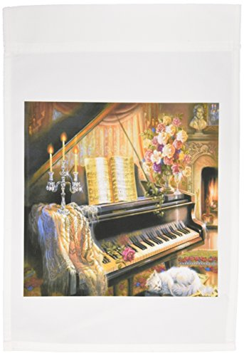 3dRose fl_109692_1 Beautiful 1586 Painting of Piano Cat Candles Garden Flag, 12 by 18-Inch Review