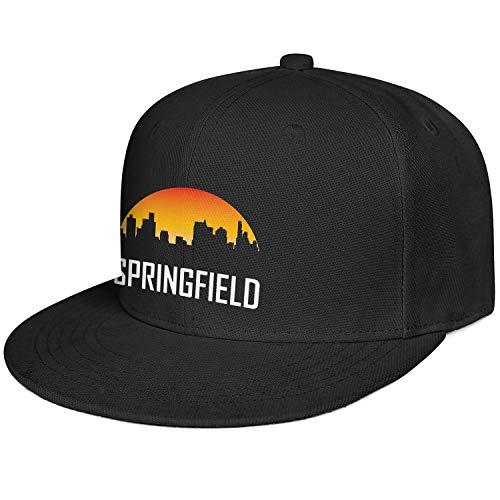 Fashion Sun Cap Man City Springfield Illinois Black Adjustable Style Outdoor Unisex Caps