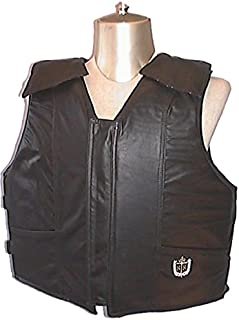 product image for Ride Right Professional Bull Riding Vest 1200 Series Black Leather