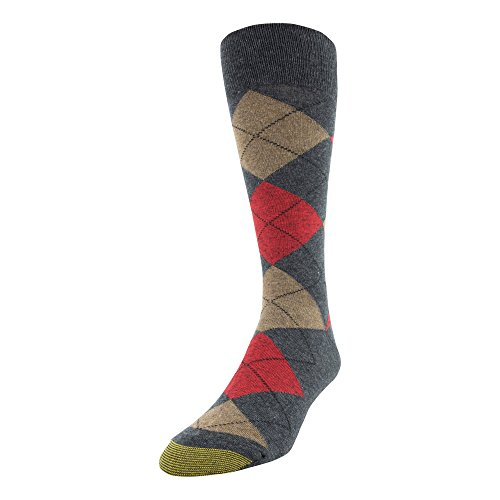 - Gold Toe Men's Patterned Fashion Dress Crew Socks, 1 Pair, Gray Argyle, Shoe Size: 6-12.5