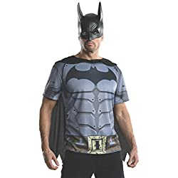 Rubie's Men's Batman Arkham City Adult Batman Top, Multicolor, Large