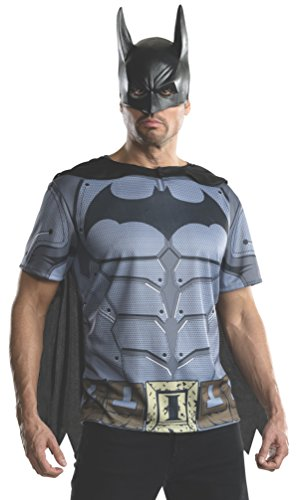 Rubie's Men's Batman Arkham City Adult Batman Top, Multicolor, Small