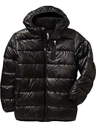 Amazon.com: Old Navy Boys Hooded Frost Free Black Jacket