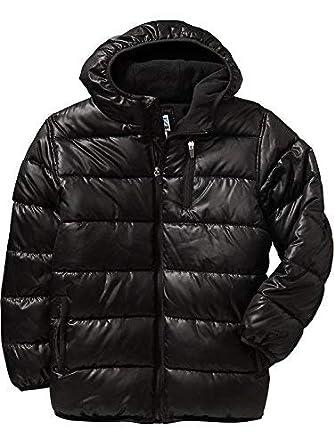 ea3a2d104a7d Amazon.com  Old Navy Boys Hooded Frost Free Black Jacket Sz M(8 ...