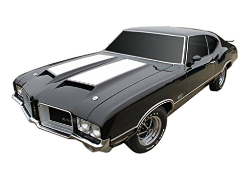 Oldsmobile 1971 GM 442 W29 Paint Stencil Decals Stripes Kit W25 Air Induction Hood ()