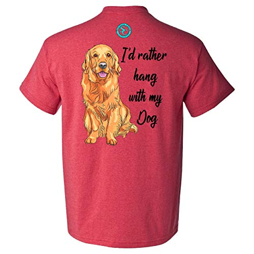 (I'd Rather Hang with My Dog Southern Charm Collection on a Heather Red T Shirt - Small)