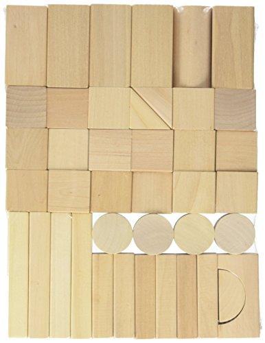 EverEarth Natural Wood Blocks, 80 Pieces (Raw Wood Blocks)