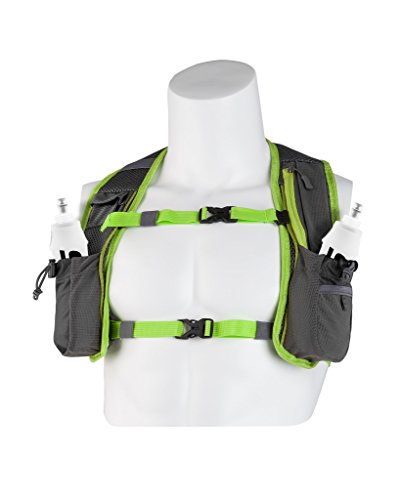 (Hydration Vests for Running Men   Small Womens Running Hydration Pack   2 Soft Flasks 2x17oz   Running Water Backpack Trail Running Men Women   Hydration Vests for Running Women Men (Lime 2x17 oz))