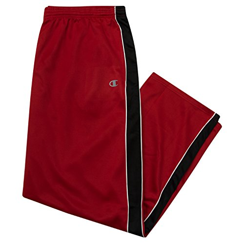 Champion Men's Big and Tall Track Pants,Scarlet/Black/White,3X-Tall (Big And Tall White Dress Pants)